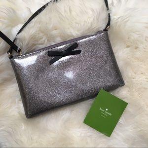 🆕Kate Spade Amy silver shimmer Crossbody bag